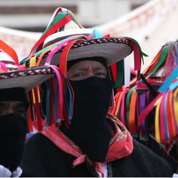 zapatistas en la marcha por la paz