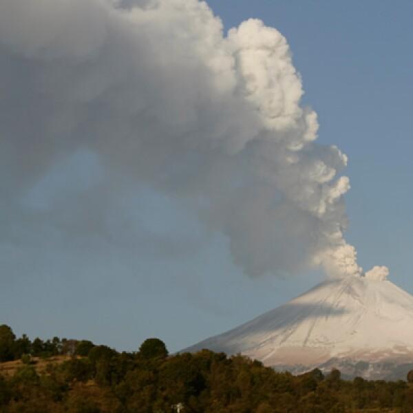 El Popocatépetl se mantiene en fase 3 y su erupción más poderosa en 1,200 años, ocurrió el 18 de diciembre de 2000.