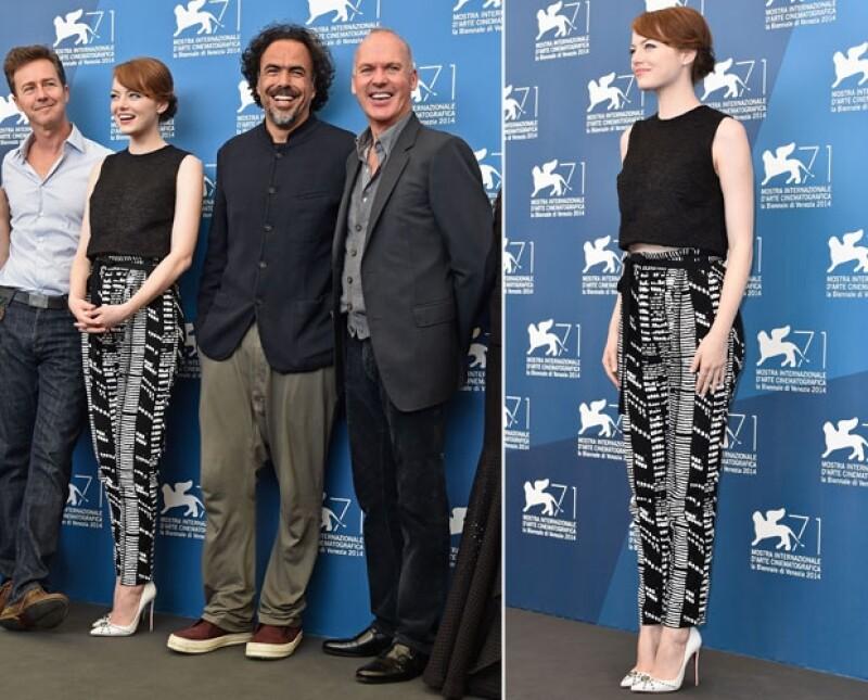 Iñárritu disfrutó de la compañía de su elenco en el photo call de la película ayer por la tarde.