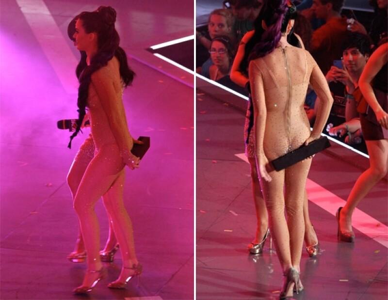 A Katy le dio pena mostrar de más.
