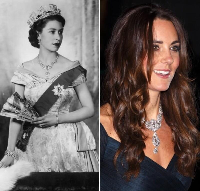 Este espectacular collar pertenece a la Reina Isabel II.