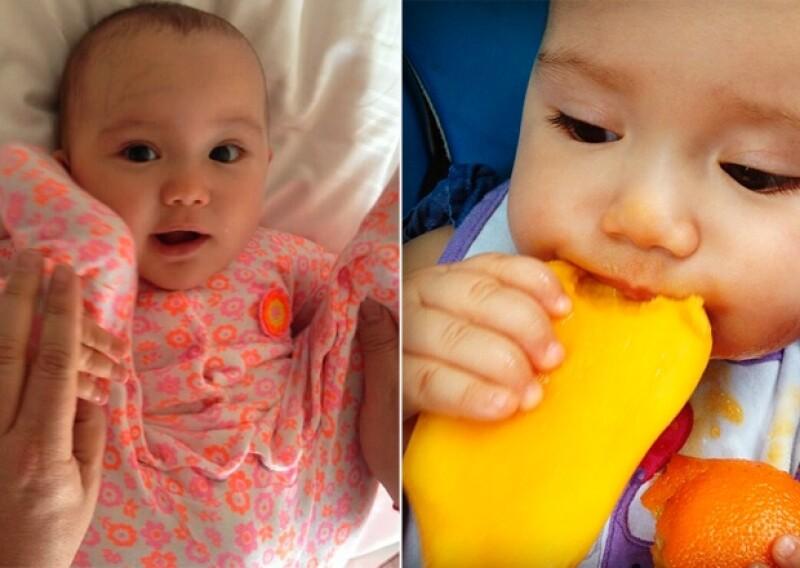 Angélica ha crecido mucho y es el orgullo de su papá, quien gusta por compartir los mejores momentos de su hija en su Instagram.