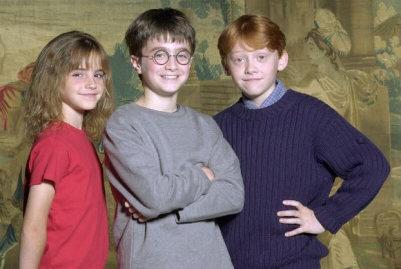 Daniel Radcliffe en una foto del recuerdo de Harry Potter en el 2000.