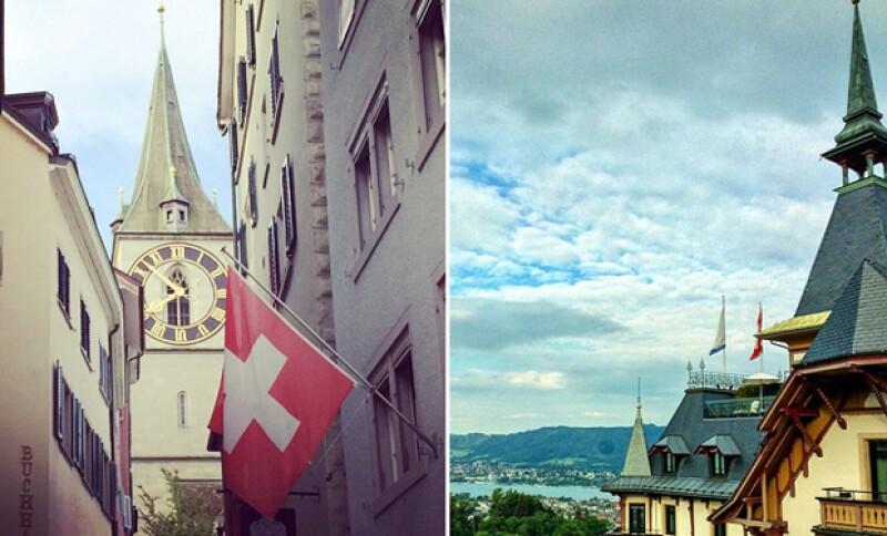 La vista del cantante a su llegada a Zurich hace un par de días.