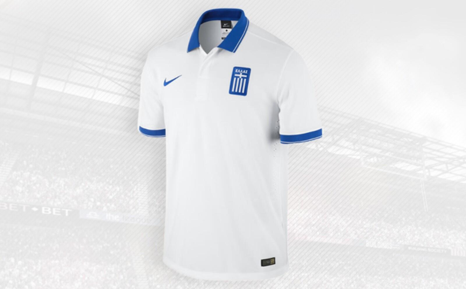 La playera hecha por Nike celebra el espíritu de unidad y la cohesión del equipo griego.