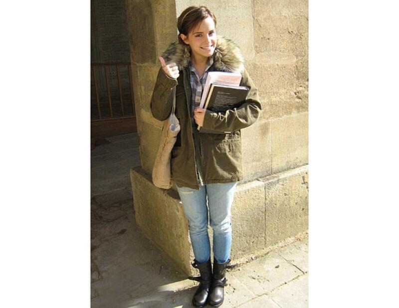 Emma Watson está muy contenta con su etapa como estudiente universitaria.