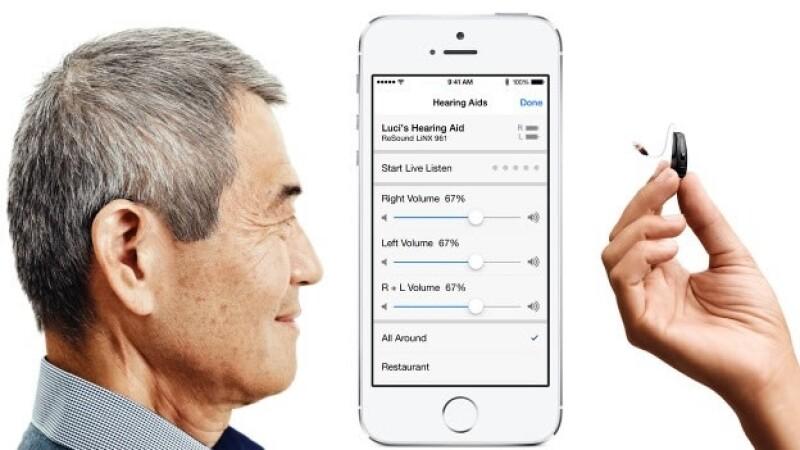 Apple y una empresa danesa se aliaron para crear aparatos auditivos.