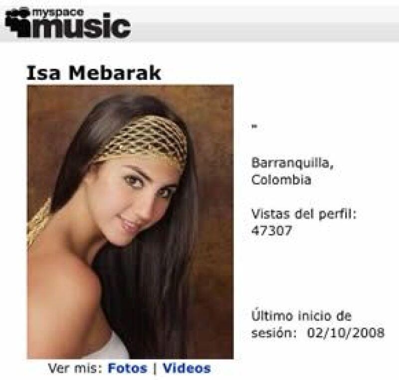 """Isa Mebarak, quien se lleva muy bien con la famosa colombiana, estrena su primer sencillo """"Me llevo mi canción"""" que ya suena en las estaciones de radio de su país."""