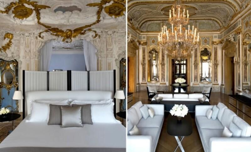 Interior del hotel Cipriani en el que los novios hospedaron a sus invitados.