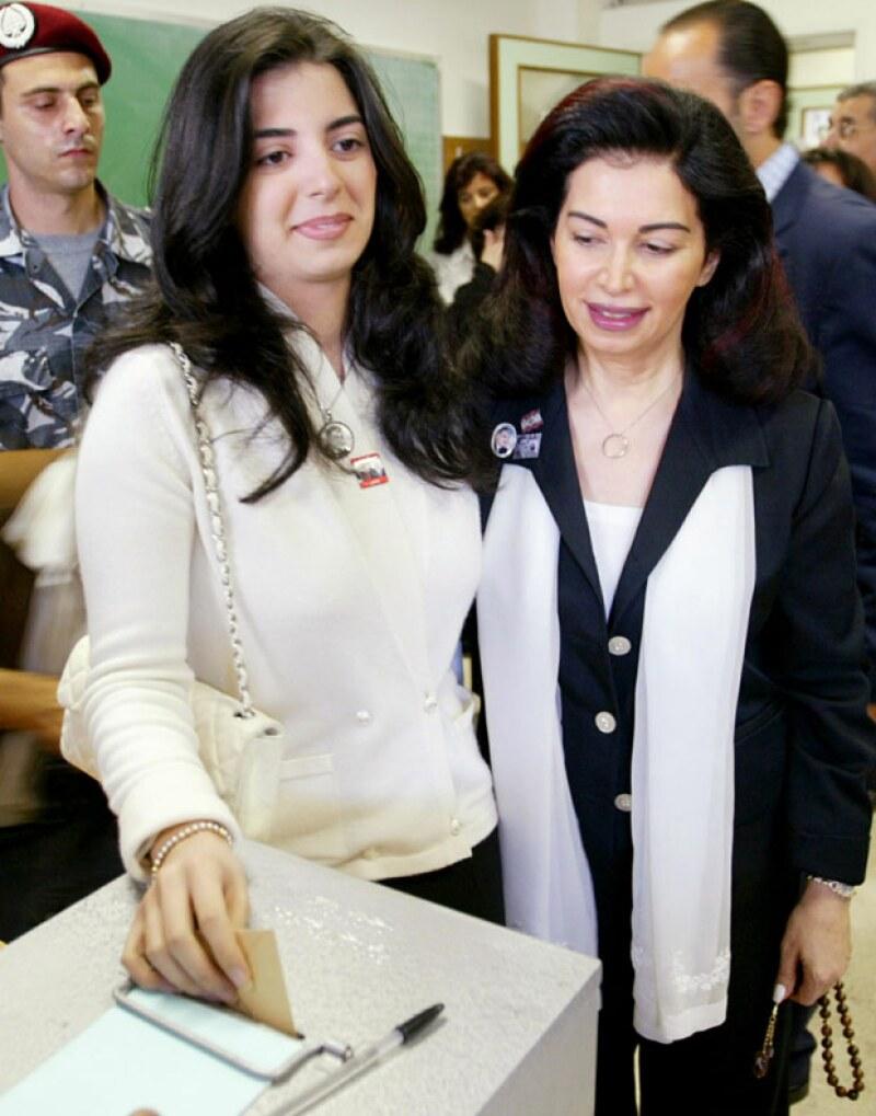 Hind Hariri, a la izquierda, tiene una fortuna valuada en 4.1 billones de dólares.