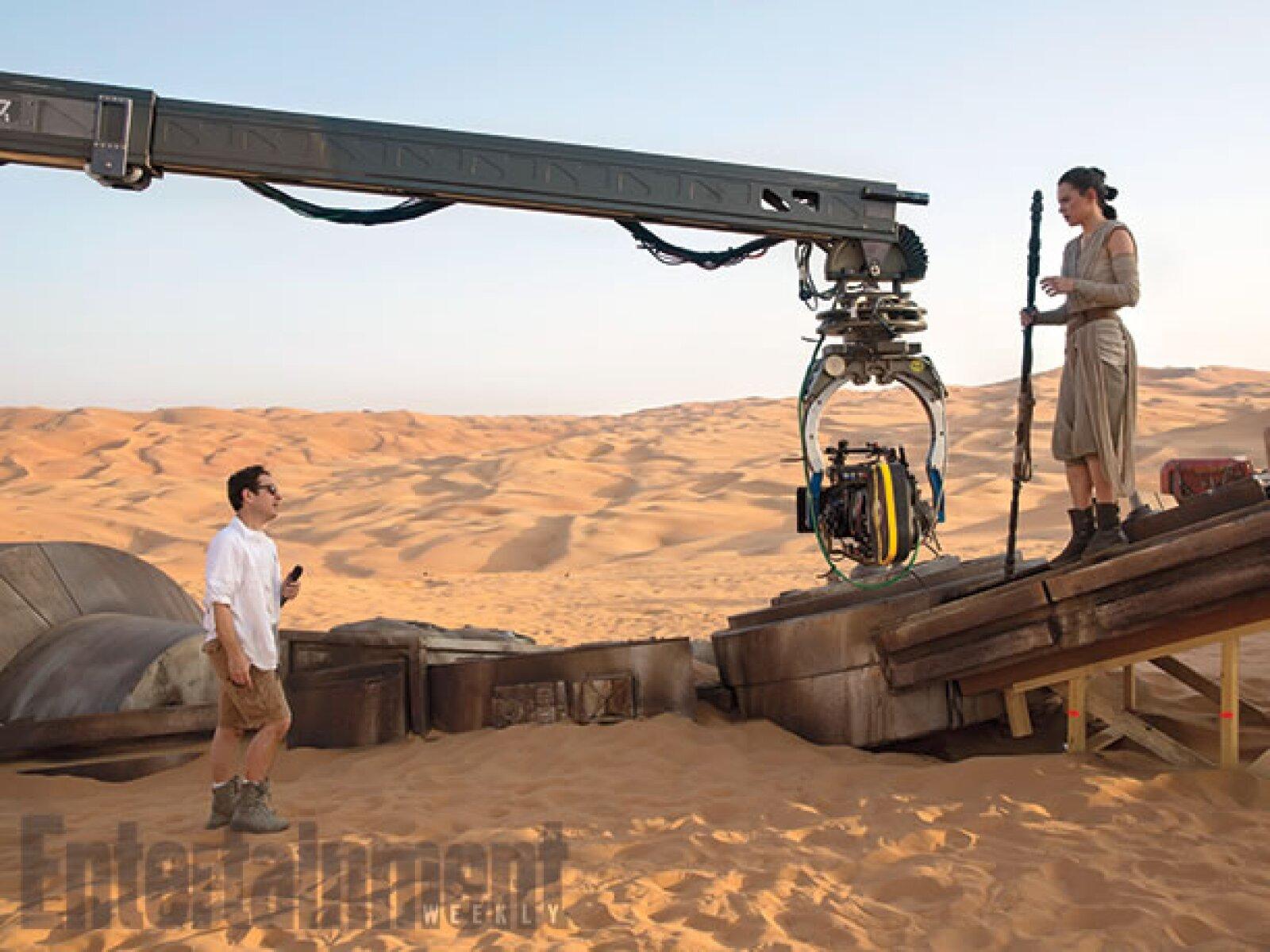 Durante la filmación de una de las escenas.