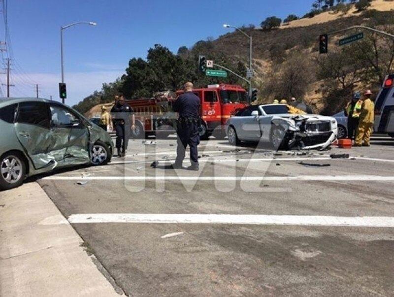 Kris Jenner fue impactada por un auto en Calabasas, California.