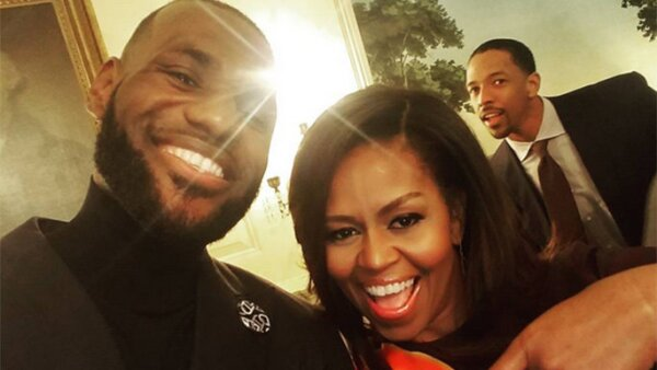 Michelle Obama y King James