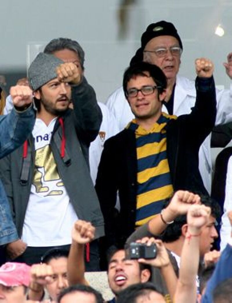 Los charolastras acudieron este domingo al partido entre el equipo de la UNAM y el América en el estadio de Ciudad Universitaria.