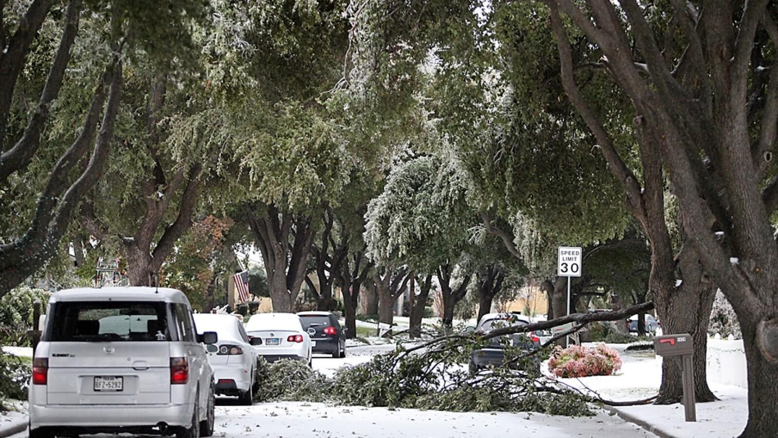 tormentas nieve Dallas