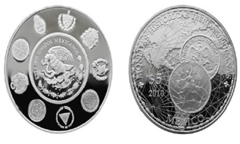 En la moneda conmemorativa que lanzó Banxico participaron  Argentina, Cuba, España, Guatemala y otros países. (Foto: Cortesía Banco de México)