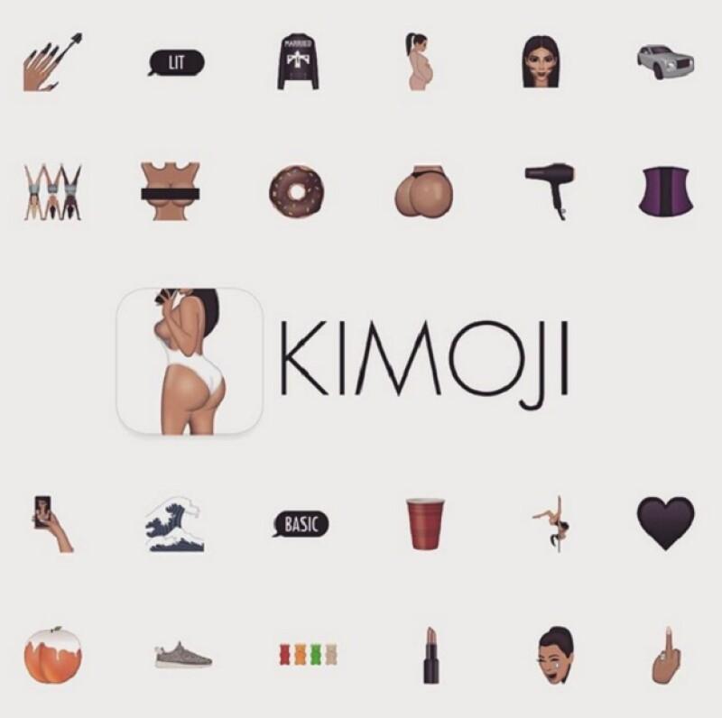Kimojis, así ha decidido llamar la empresaria a los emoticonos.