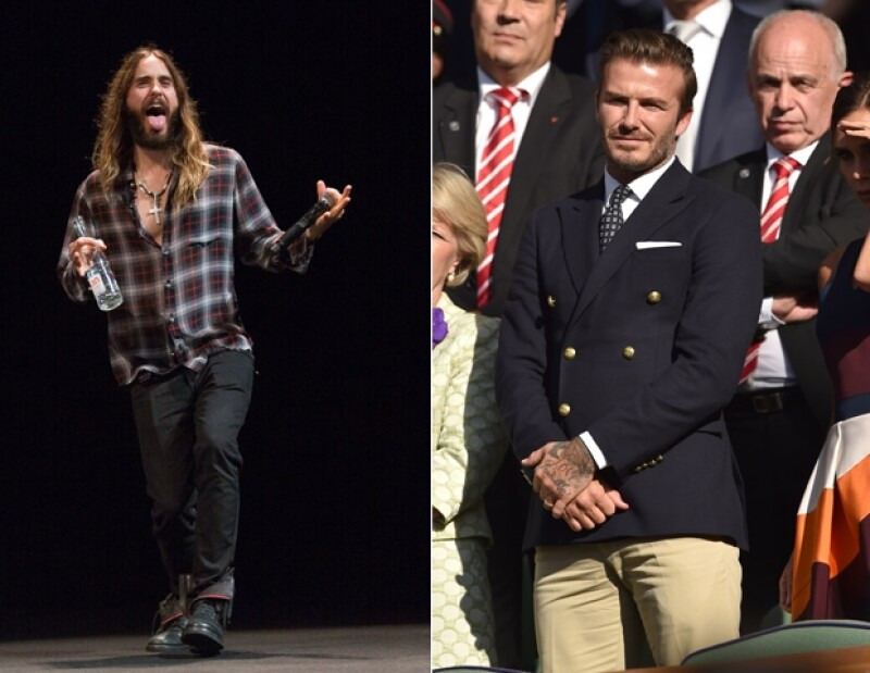 Jared Leto y David Beckham