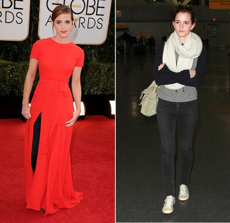 Su increíble look de Dior Couture vs. su llegada en el aeropuerto de Nueva York