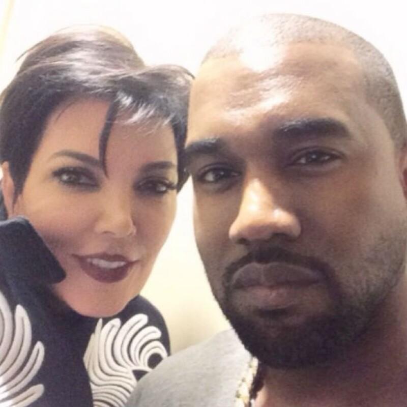 Kanye West es como un nuevo hijo para Kris, pero seguramente también lo considera un partidazo pues no cabe duda el gran parecido que tiene con su nuevo galán.