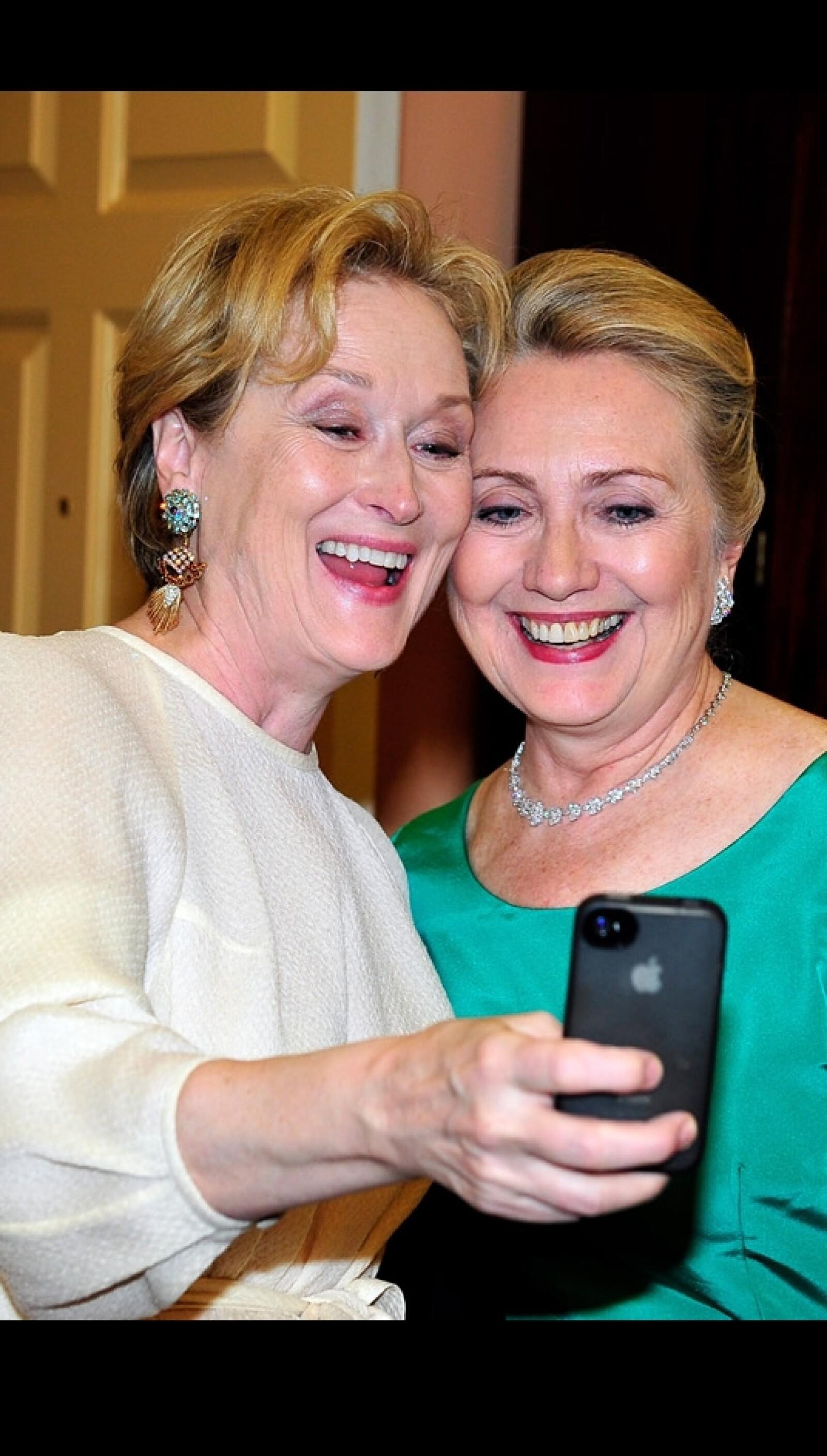 Meryl Streep y Hilary Clinton selfie