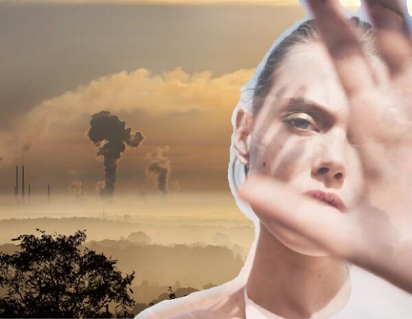 La piel, la garganta y el pelo se resecan con la contaminación.
