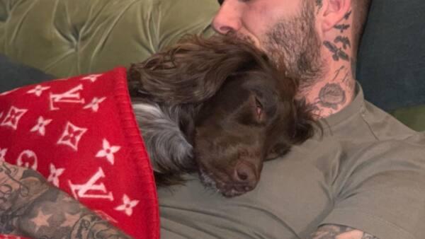 David Beckham y su mascota Olive