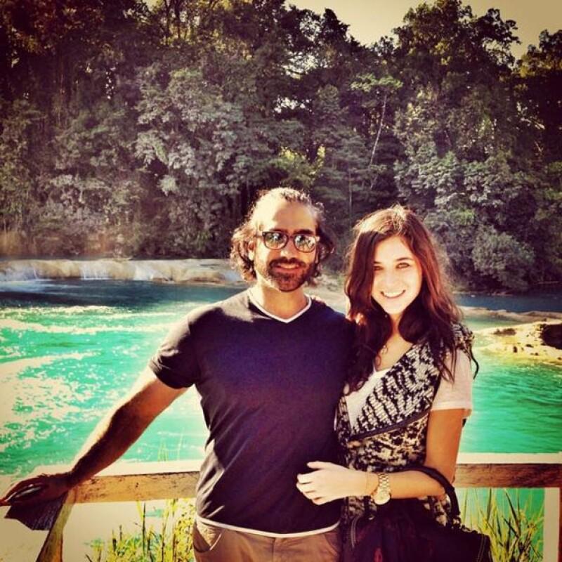 La tapatía ya no es tímida en demostrar su amor por el hijo de Vicente Fernández, por lo que en su red social compartió una linda foto de su viaje a Chiapas.