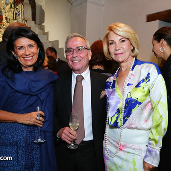 Martha Mejía, Antonio y Ángela Chedraui