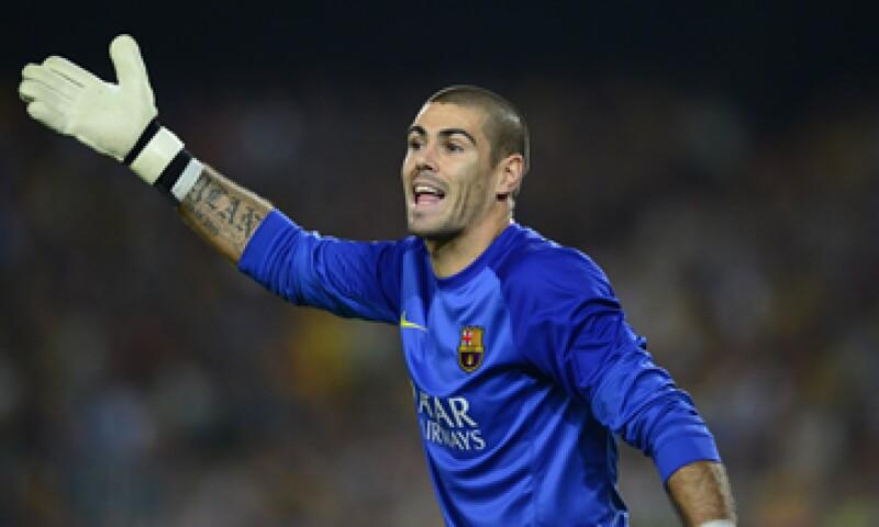 Valdés ganó seis ligas españolas con el Barcelona. (Foto: AFP)