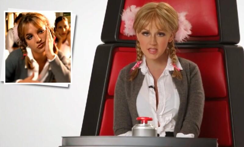 """Ataviada como estas grandes artistas de Hollywood, la cantante sorprendió al emularlas a la perfección para un promocional del programa """"The Voice""""."""