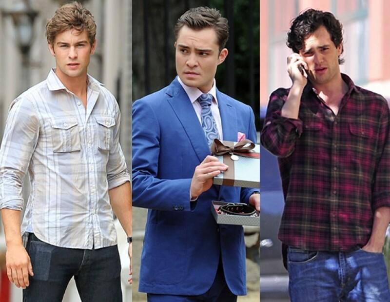Chuck Bass, Nate Archibald y Dan Humphrey interpretan tres diferentes arquetipos masculinos.