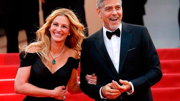 La actriz no pudo contener su alegría tras debutar en el prestigioso festival de cine junto a sus compañeros Jodie Foster y George Clooney.