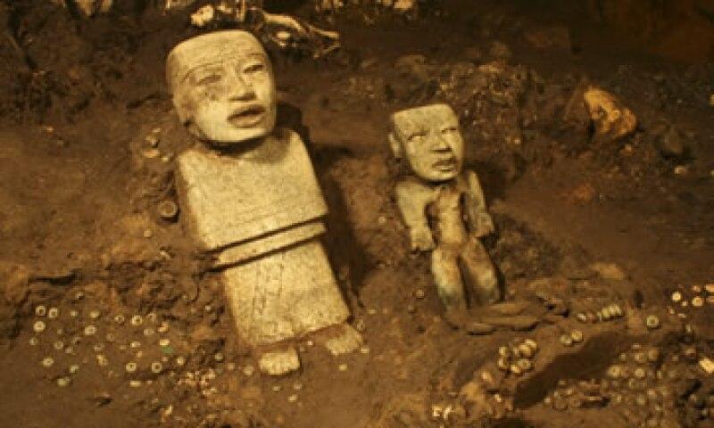 Entre los objetos encontrados en Teotihuacán destacan esculturas talladas en piedra. (Foto: Cuartoscuro )