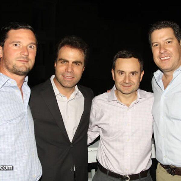 Arturo Gonzalez,Miguel Victoria,Paulo Butcha y Luis Eduardo Ron