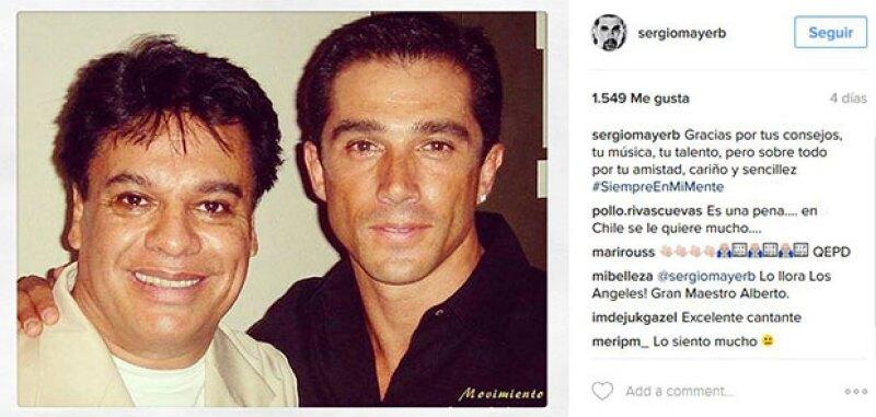 Con esta foto se despidió Sergio del cantautor.