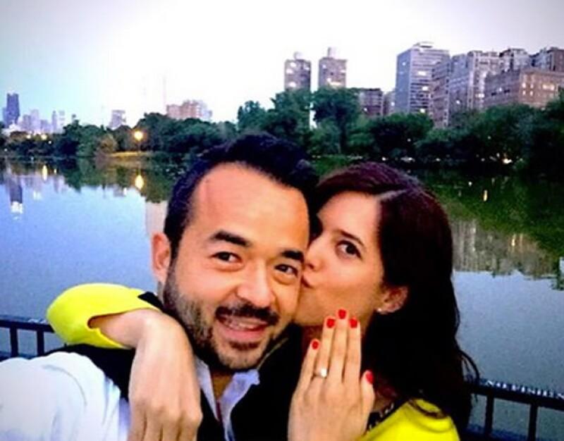 Daniela Lozano y Miguel Echegollen
