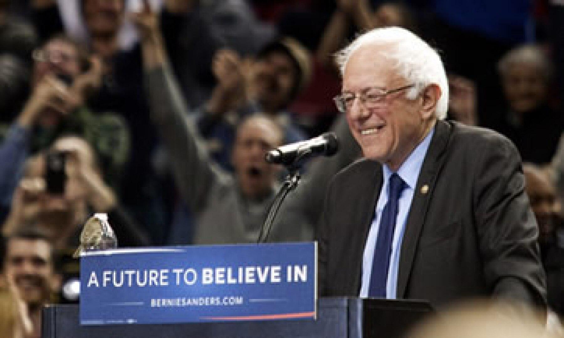 Las victorias sabatinas de Sanders siguen impulsando la campaña del senador (Foto: AFP)