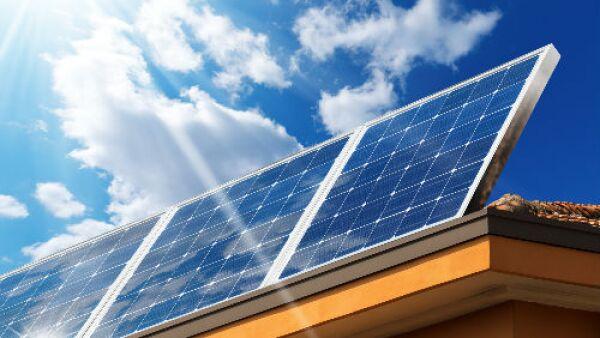techo solar de casa