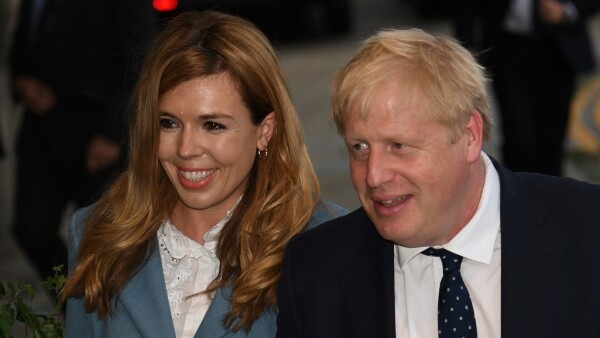 Boris Johnson y su esposa Carrie Symonds