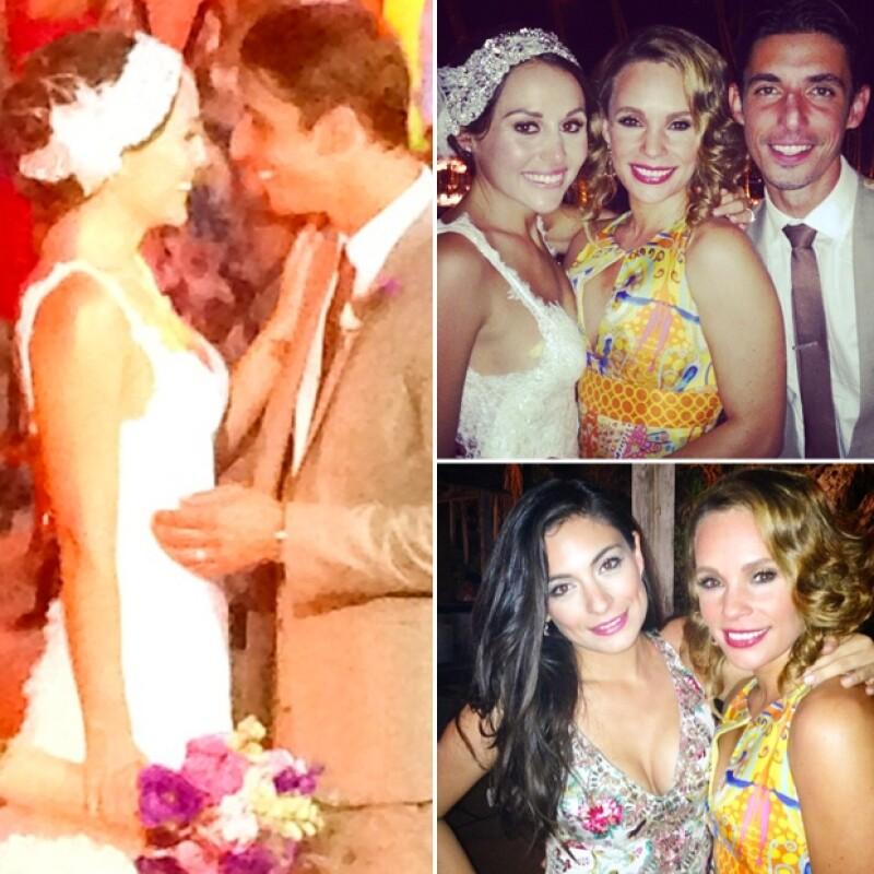 Fue Jessica Coch quien publicó imágenes con los novios y con Ana Brenda, así como un momento romántico de los ya esposos.