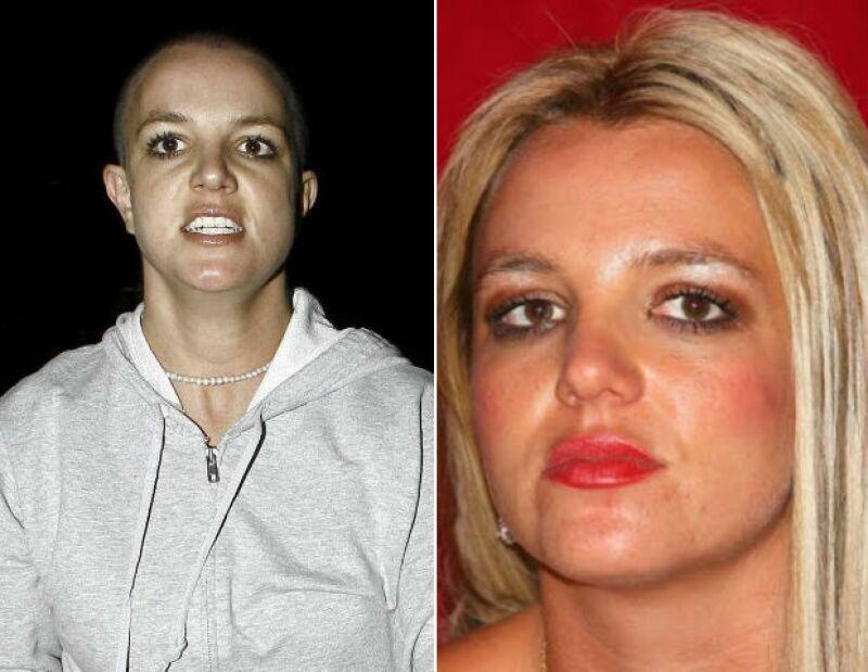 Britney Spears pareció haber perdido el control de si misma cuando era un poco más joven.