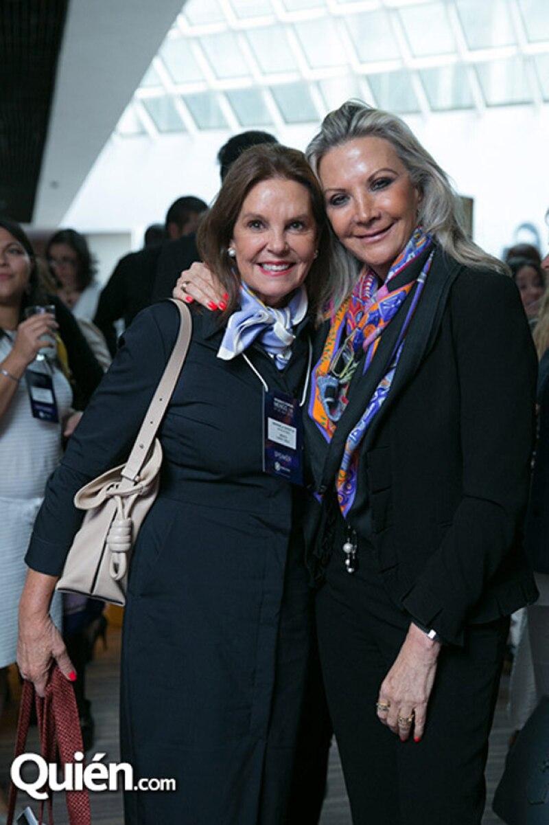 Marinela Servitje y Gina Diez Barroso