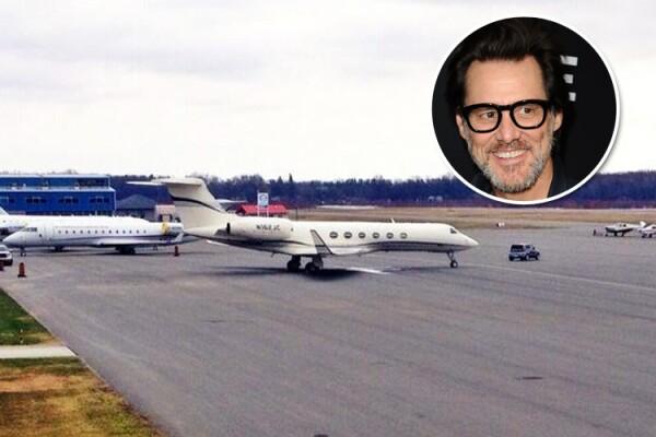 Jim Carrey, avión