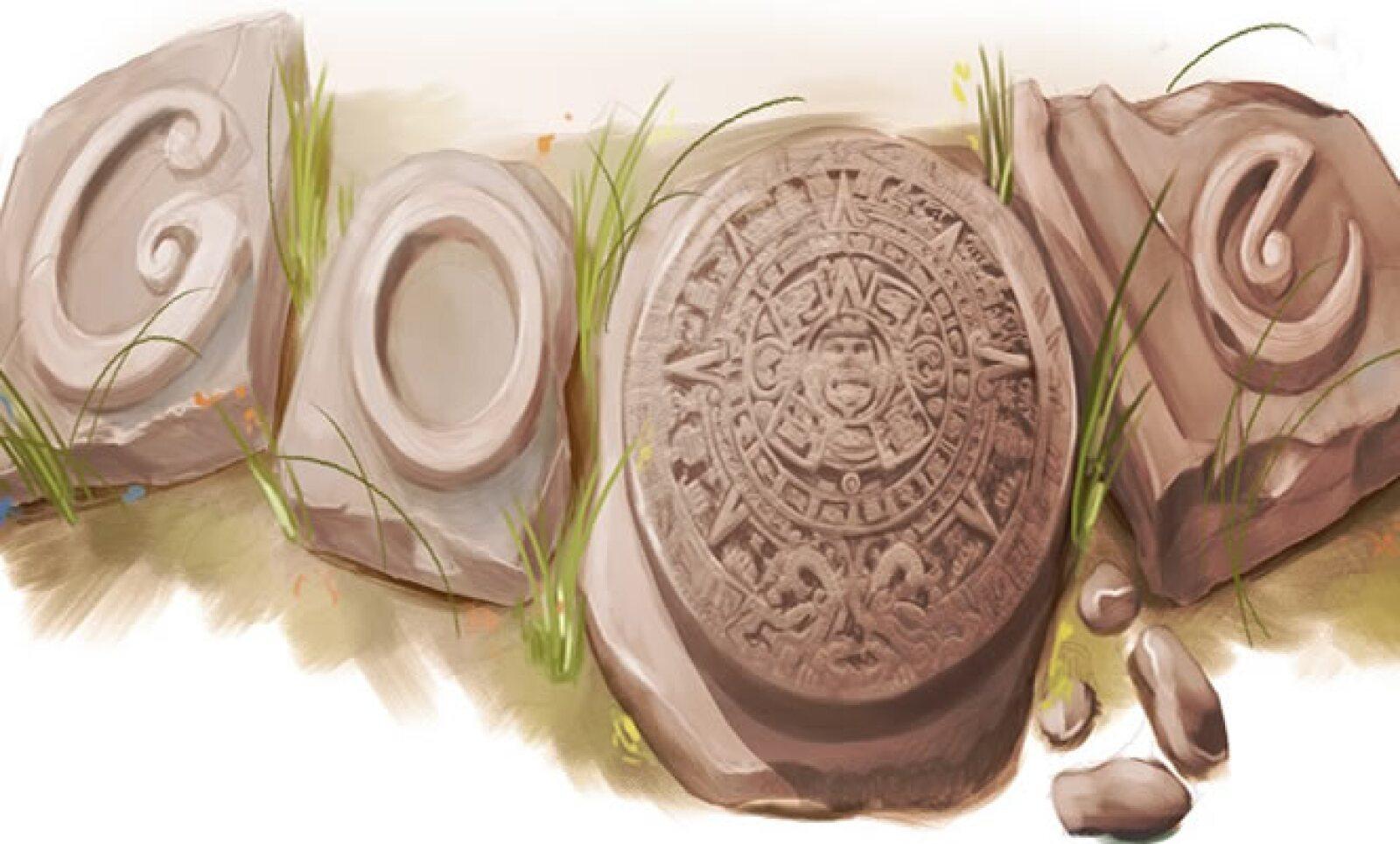 El 17 de diciembre de 2009 Google recordó el día del descubrimiento del disco monolítico prehispánico en la Ciudad de México.
