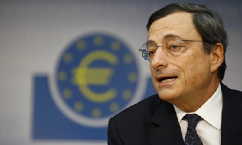Mario Draghi compareció en una rueda de prensa tras la baja de las tasas  de interés del BCE. (Foto: Reuters)