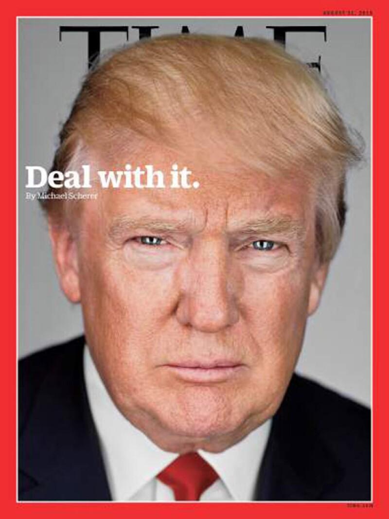 El candidato a la presidencia de EU es la nueva portada de la revista TIME, en donde reafirmó su postura sobre los hispanos en su país y continuando con la idea de construir un muro.