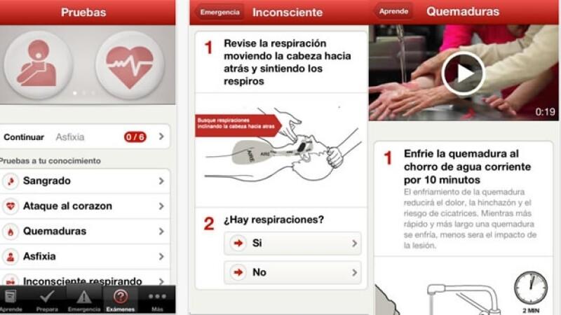 aplicacion Cruz Roja Mexicana