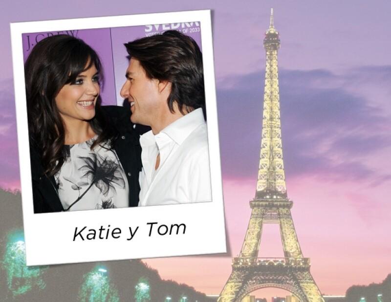 Tom quiso sellar su compromiso con Katie en la cuidad del amor.