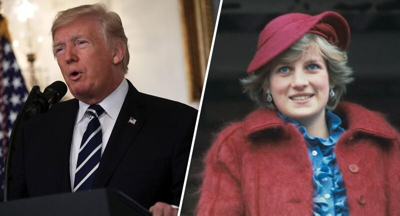 Donald Trump y Lady Di